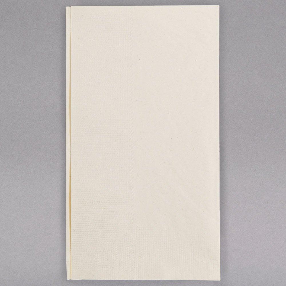 TableTop King 15'' x 17'' Customizable Ecru/Ivory 2-PlyPaper Dinner Napkin - 1000/Case