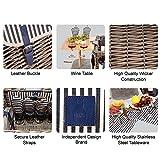 VAULTSAC Picnic Basket Set - Removable Bamboo Table