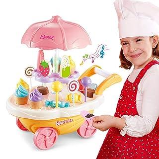 Hamkaw Playdough - Set di Strumenti per Creare impasti e Gelati, per Bambini e Bambine A