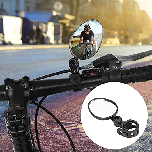 Alomejor Bike Rear View Mirror Durable 360 Degree Rotate Adjustable Handlebar Rearview Road Mountain Bicycle Safety Mirror For Bike Bicycle Cycling