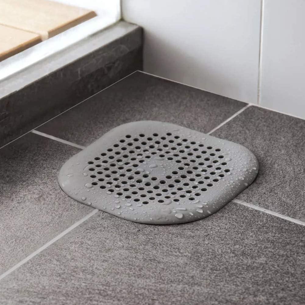 21sandwhick Sink Strainer Kitchen Bathroom Anti-Clogging Floor Drain Filter Sink Strainer Hair Stopper Grey