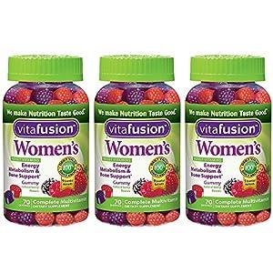 Women's Gummy Vitamins, 70 Count (3 Bottles)