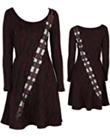 Star Wars I Am Chewbacca Long-Sleeved Costume Skater Dress