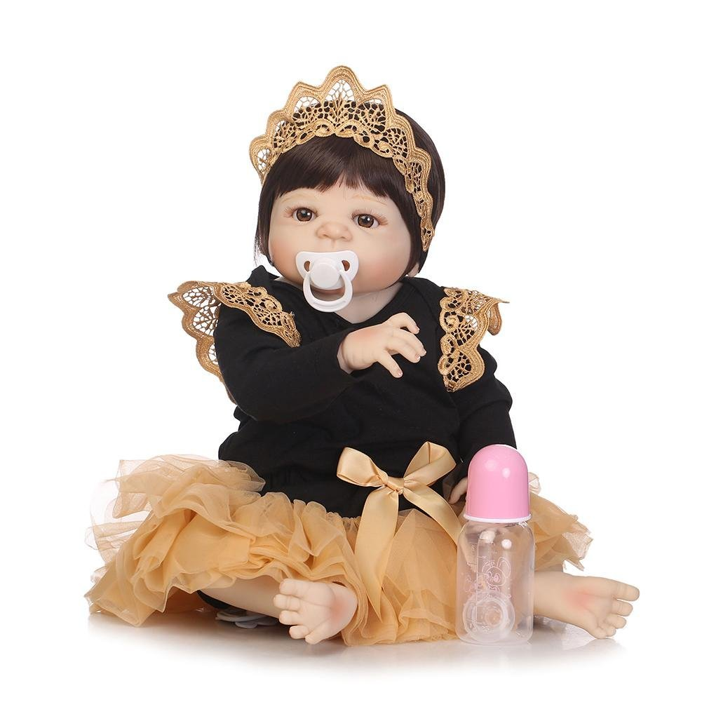 chinatera NPK Simulation Artificial Waterproof Soft Silicone Reborn Baby Dolls Lifelike Infants Girl Doll Toys for Photographic Prop