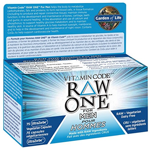 GARDEN OF LIFE VITAMIN CODE RAW ONE FOR MEN 150 (Vitamin Code One Raw)