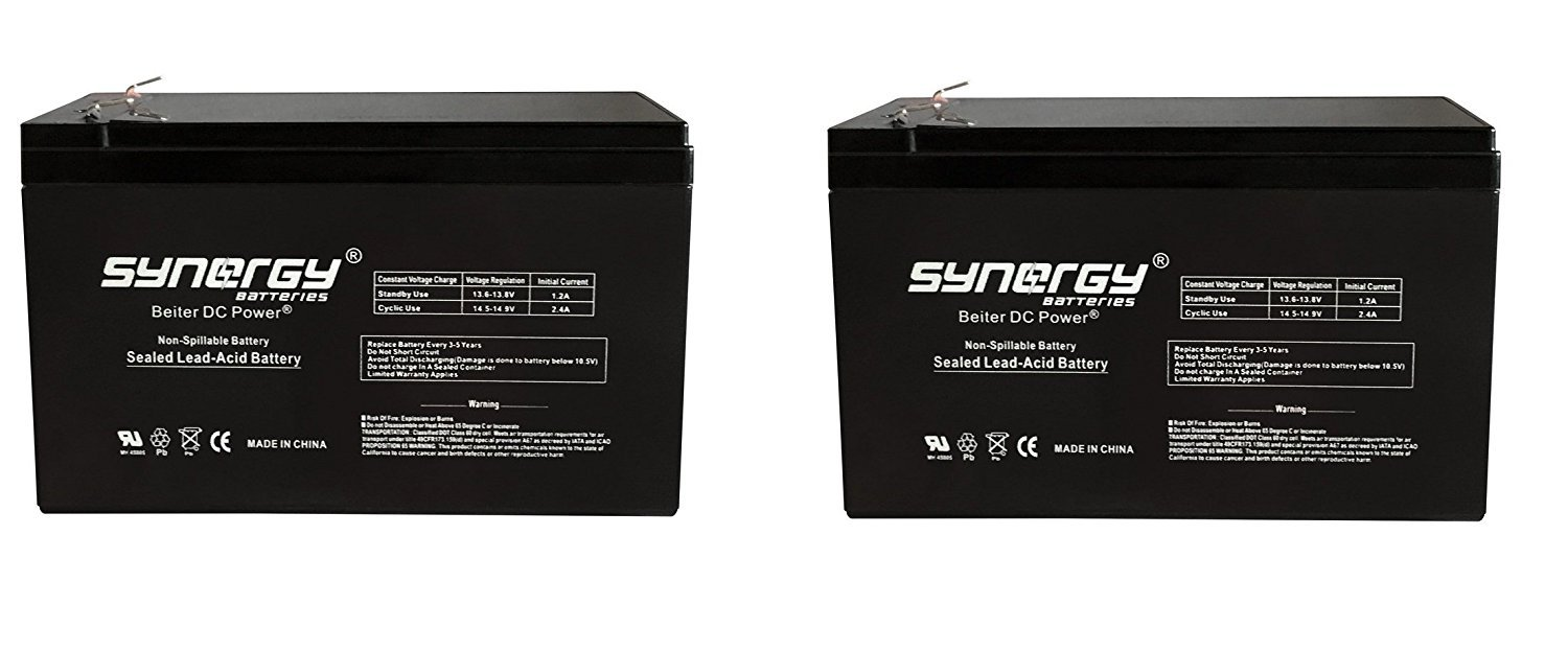 Universal Power Group BATTERY REPL. RAZOR GROUND FORCE ELECTRIC GO KART - 2 Pack (Battery Only - Reuse Existing Connector)