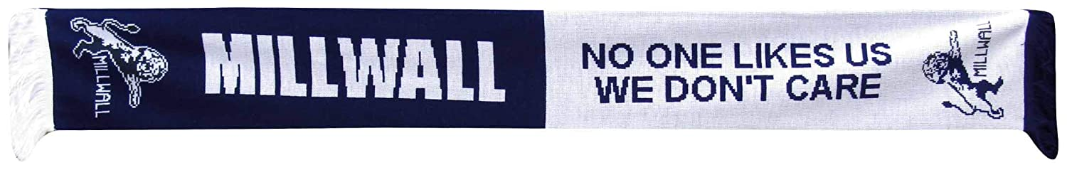 Millwall Football Crest No One Likes Us Fans Scarf 100/% Acrylic