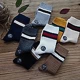 Japanese two bars hit color striped socks in tube socks piles of socks retro small fresh fashion cotton solid color women girl socks