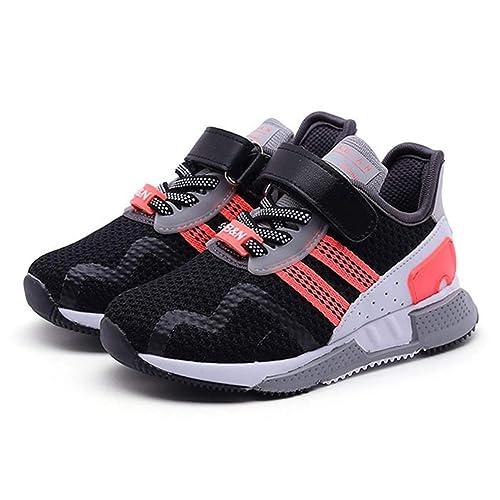 Zapatillas Deportivas para niños con Velcro Boy Girls Fashion Zapatillas de Deporte Respirables Ocasionales Negras Entrenadores para niños: Amazon.es: ...