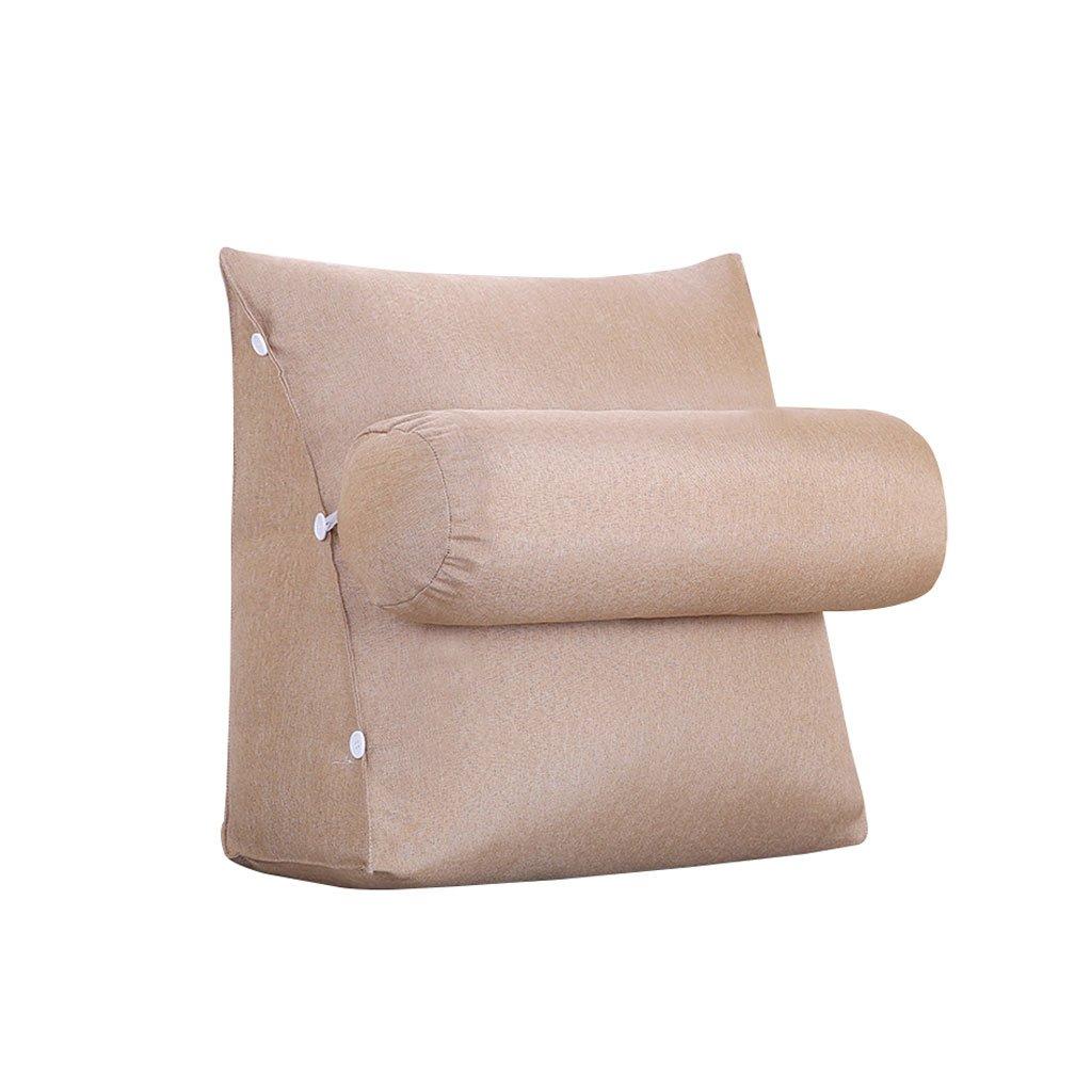 HN Bed pillows Bedside Triangle Pillow Sofa Bed Headrest Lumbar Pillow With Headrest Backrest Waist Pads Office Pillow Bay Window Cushion Back Pure Color (Color : A, Size : 45cm20cm50cm)
