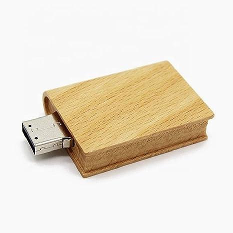 Libro de Madera 16 GB - Book Wood - Memoria Almacenamiento de Datos – USB Flash Pen Drive Memory Stick: Amazon.es: Informática