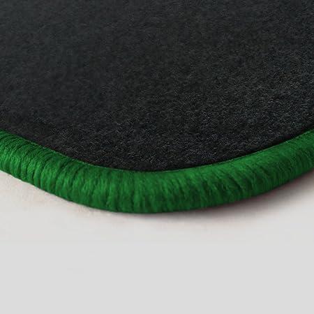Autoteppich Stylers Randfarbe Nach Wahl Passgenaue Fußmatten Aus Nadelfilz Graphit Mit Grünem Rand 504 Auto