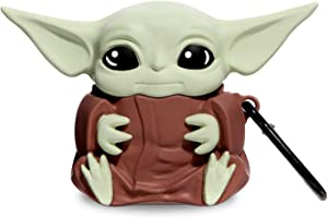 Airpods 1&2 Charging Case Cover   Cute Cartoon Airpods Case   Silicone AirPod Cover with Keychain   Cute Earbud Case Airpods for Kids Teens Girls Boys (Yoda Baby)