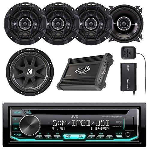 JVC CD/AM/FM/Car Stereo Receiver w/Detachable Faceplate, 4x