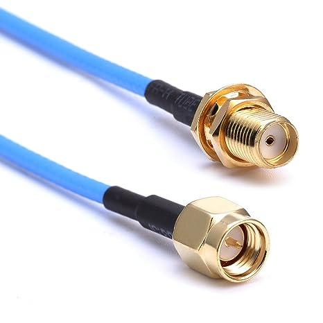 Nuevo cable coaxial RG316 SMA macho a SMA Jack hembra adaptador de cable Adaptador Pigtail 10CM