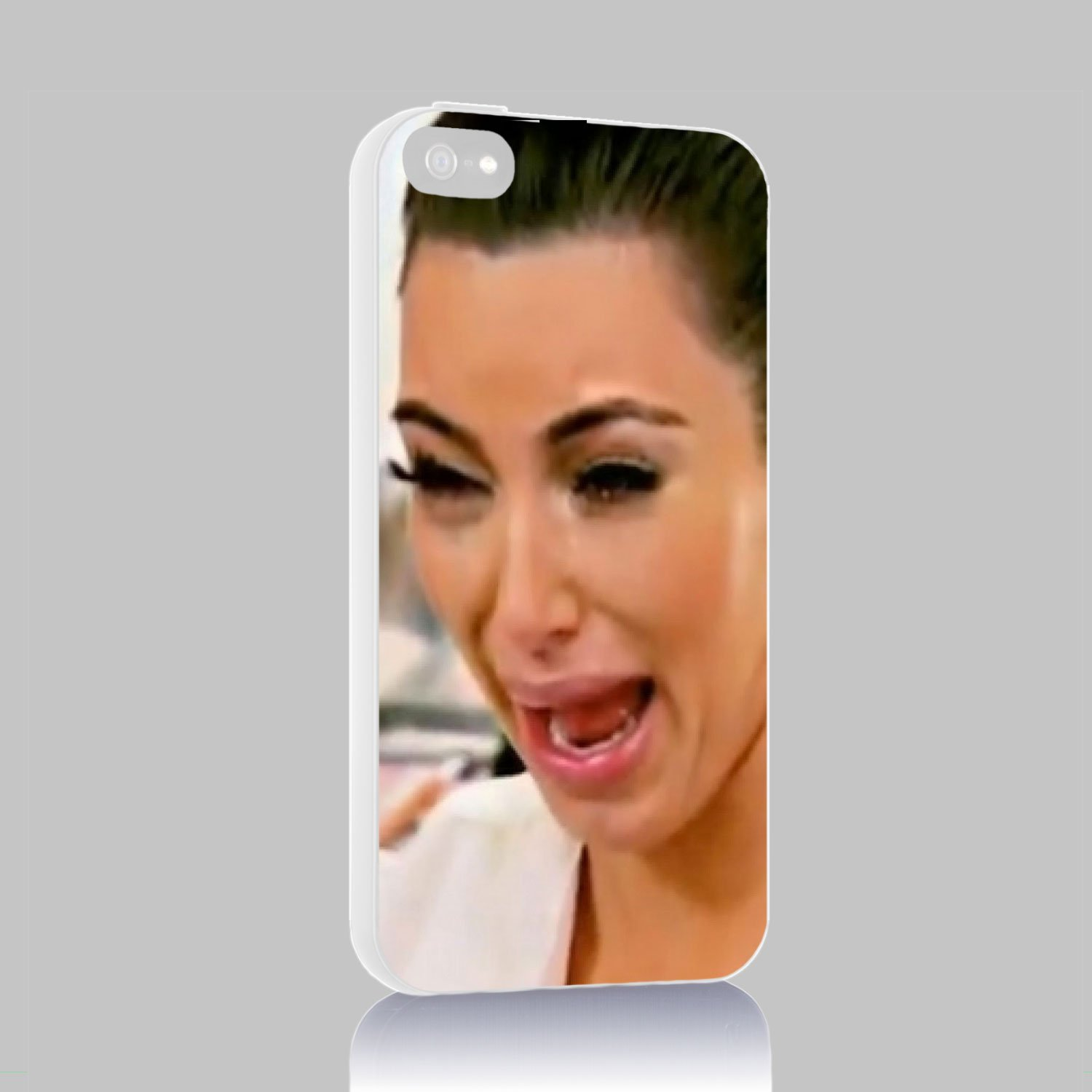 Kim Kardashian Crying for Iphone 4/4s 5 5c 6 6plus Case (iphone 4/4s white)
