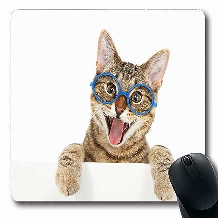 Luancrop Alfombrillas de ratón Pata Emocionada Feliz Gato de ...