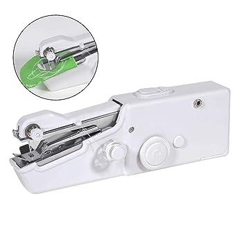 Aidee Máquina de Coser, Manual DIY Profesional Máquina de coser compacta y portátil blanco: Amazon.es: Electrónica