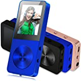 MP3 Player, FecPecu Music Players Updated Version 8GB Hi-Fi Sound 35 Hours Playback , Portable Audio Player Build-in Speaker With Voice Recorder and FM Radio Expandable Up To 64GB (Blue)