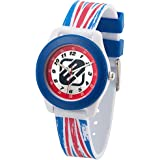 Freegun - EE7026 - Montre Garçon - Quartz Analogique - Cadran Argent - Bracelet Plastique Multicolore