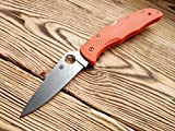 Custome scale for Spyderco Endura 4 Model - 3D Classic, Orange G10 (sale only handle) -  aramisknives