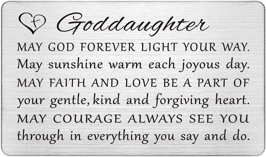 to a Special Goddaughter Christening Card ~ with Lots of Love on This Very Special Occasion