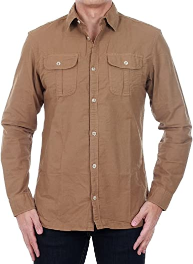 Camisa Jack&Jones Hombre L Marrón 12121049 JJVOHIO SHIRT L/S UTILITY ERMINE/SLIM: Amazon.es: Ropa y accesorios