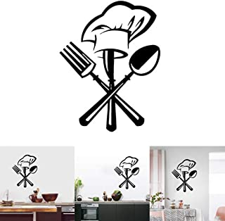 JUSTDOLIFE Wall Sticker Removable Wall Art Decal Wall Decor for Kitchen Canteen