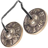 Hmxpls Buddhism Handmade Brass Tingsha Cymbals Bells Meditation Yoga Bell Chimes Hand percussion instrument