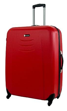 Maleta grande de plástico ABS, 130 l, carcasa rígida, de 4 ruedas, Red (rojo) - 31: Amazon.es: Equipaje