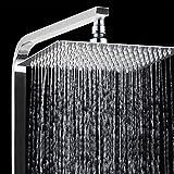 8' Luxury Rainfall Square Shower Head Ultra-thin Stainless Steel Durable Showerhead Waterfall Effect Water Saving Chrome Finish (8')