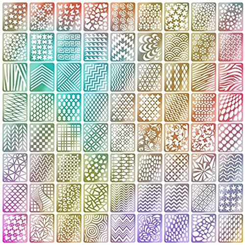 TOPBeauty 60 Pieces Nail Vinyls Stencil Stickers Set, 5 Shee