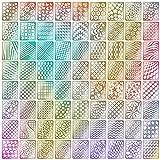 Cute Nails Designs TOPBeauty 60 Pieces Nail Vinyls Stencil Stickers Set, 5 Sheets 72 Different Designs Cute Easy Nail Art Nail Vinyls Nail Stencil Sheets