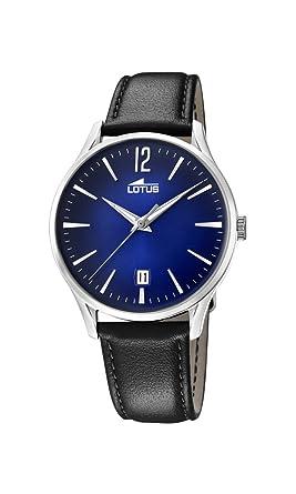 Lotus Watches Reloj Análogo clásico para Hombre de Cuarzo con Correa en Cuero 18402/3: Amazon.es: Relojes