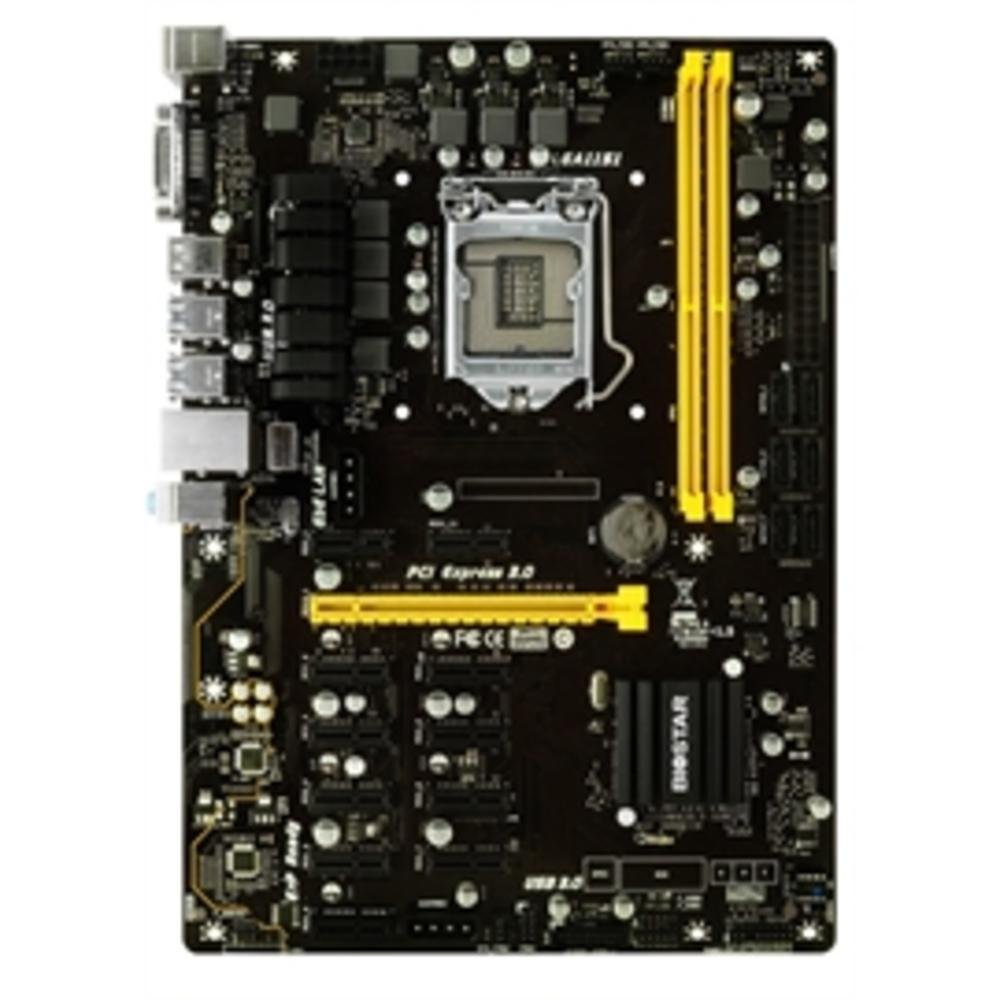Biostar Motherboard TB250-BTC PRO Core i7/i5/i3 LGA1151 Intel B250 DDR4 Supports 6 AMD and 6 Nvidia Graphics cards by Biostar