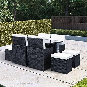 BillyOh Siena 8 Sitzer Outdoor Rattan Garten Möbel Cube Esstisch Set