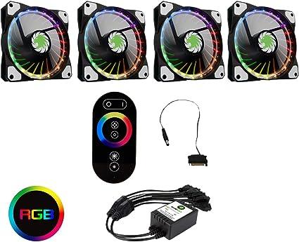 Gamemax 120 mm RGB LED Case Ventiladores con Controlador para PC ...
