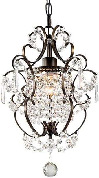 Mini Style Crystal Chandelier Pendant Light White,1 Light