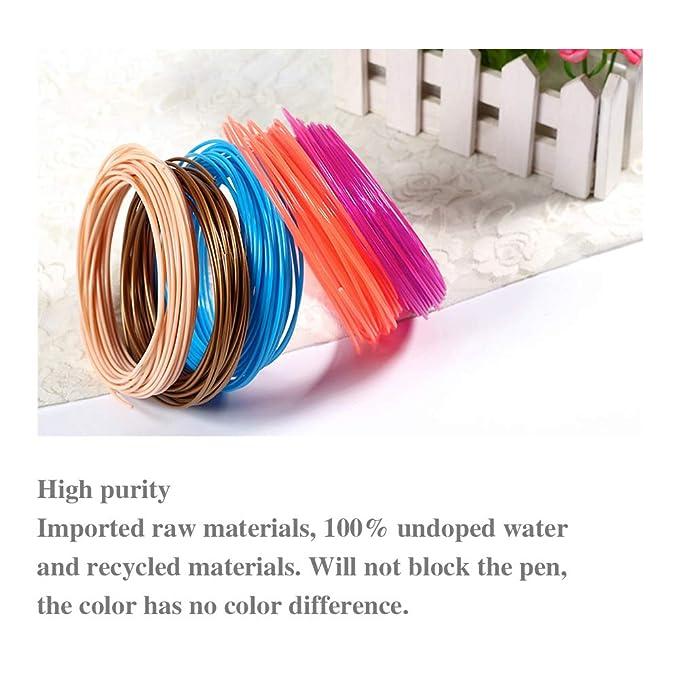 HZL 20 Piece 3D Pen Filament 1.75mm ABS PLA PCL 3D Pen Refills 3D Printer Filament for 3D Print Pen in Multicolor Pack 100m Lengths,PLA Home & Kitchen
