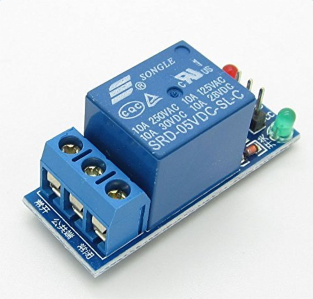 DaoRier Low-Trigger-Relais-Erweiterungskarte Elektronisches Steuermodul 5V Relaismodul 1 St/ück