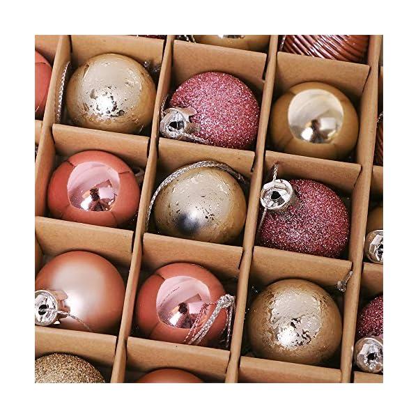 Victor's Workshop 49 Pezzi 3cm Palline di Natale, Ornamenti di Palle di Natale Infrangibili Rosa e Viola per la Decorazione Dell'Albero di Natale 3 spesavip