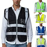Men Road Work High Visibility Pullover Sleeveless