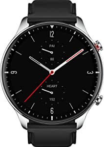 Amazfit GTR 2 Smartwatch with 3GB Music Storage, GPS, Heart Rate, Sleep, Stress, SpO2 Monitor, 14-Day Battery Life, Bluetooth Phone Calls, 90 Sports Modes,Stainless Steel