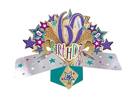 Second Nature 3D Pop Up Card 60th Birthday