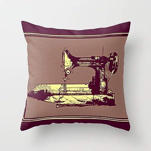 Weeya - Funda de Almohada para máquina de Coser, diseño Vintage ...