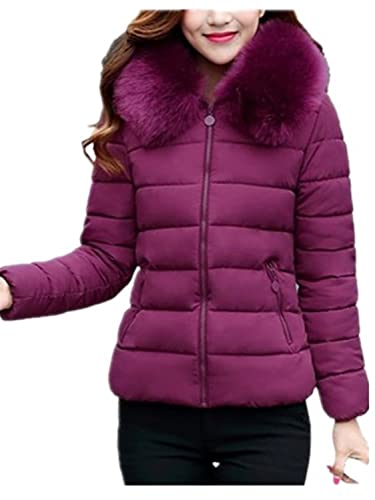 YOGLY Abrigos de Mujeres Invierno Cálido Chaqueta Abajo Down Coat Chaquetas de Moda con Capucha de I...