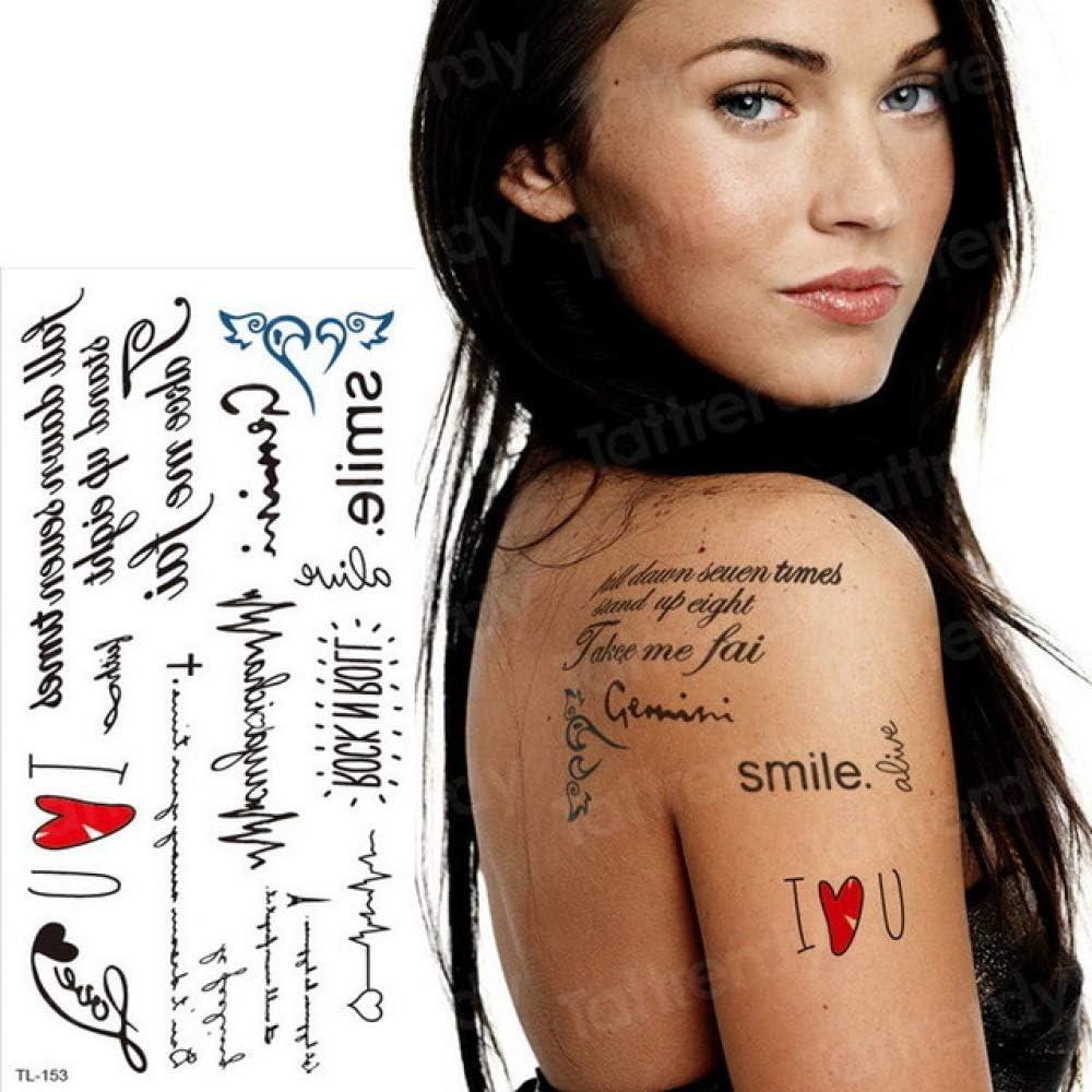 Tzxdbh 2pcs Tattoo Words Minimalist Tattoo Stickers Female