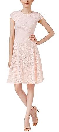 dfbd0599ba5c Image Unavailable. Image not available for. Color  Alfani Lace Fit   Flare  Dress ...