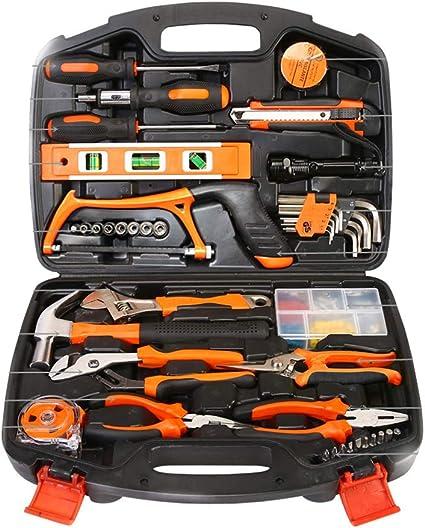 Principal Kit de herramientas, Generales Juego de herramientas, caja de herramientas dedicada trabajo Vehículo Herramientas Mini de herramienta Alicate Juego de destornilladores, 106 piezas: Amazon.es: Coche y moto