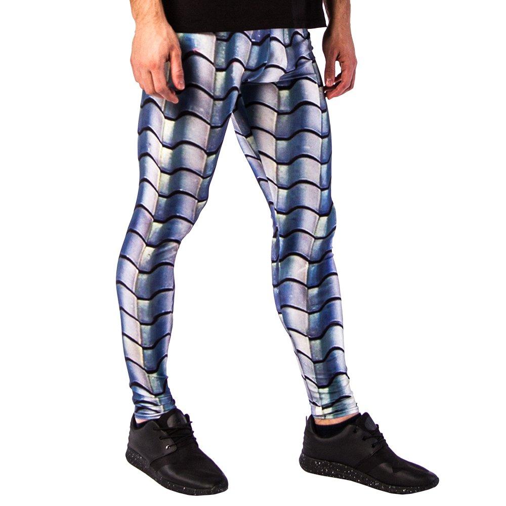Fashion and Yoga Tights Cool Warm Baselayer Sports Pants Kapow Meggings New Colourful Print Mens Leggings
